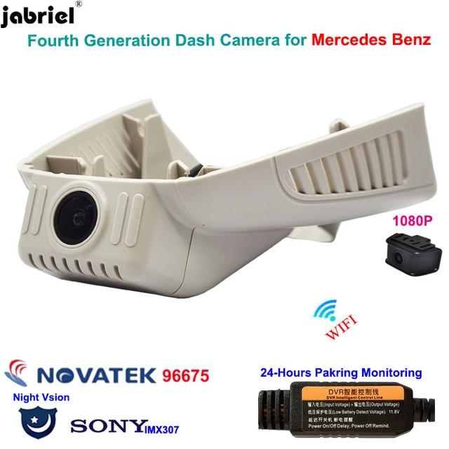 Full HD 24H araba dvrı Dash kamera Mercedes Benz C sınıfı w205 s205 GLC x253 CLS w219 E sınıfı w212 w213 C E glc 200 220d 260 300