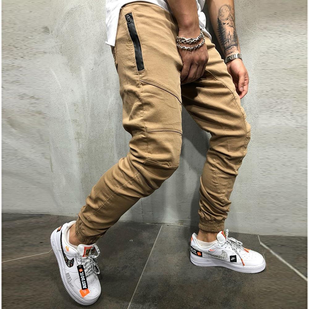 Men Pants Fashion Splicing Multi Pocket Harem Joggers Pants 2018 Male Trousers Mens Joggers Solid Pants Sweatpants Large Size