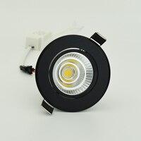Negro especial led spot Mini 3W 5W 7W COB LED Downlight regulable lámpara empotrada luz mejor para techo casa Oficina hotel 110V 220V