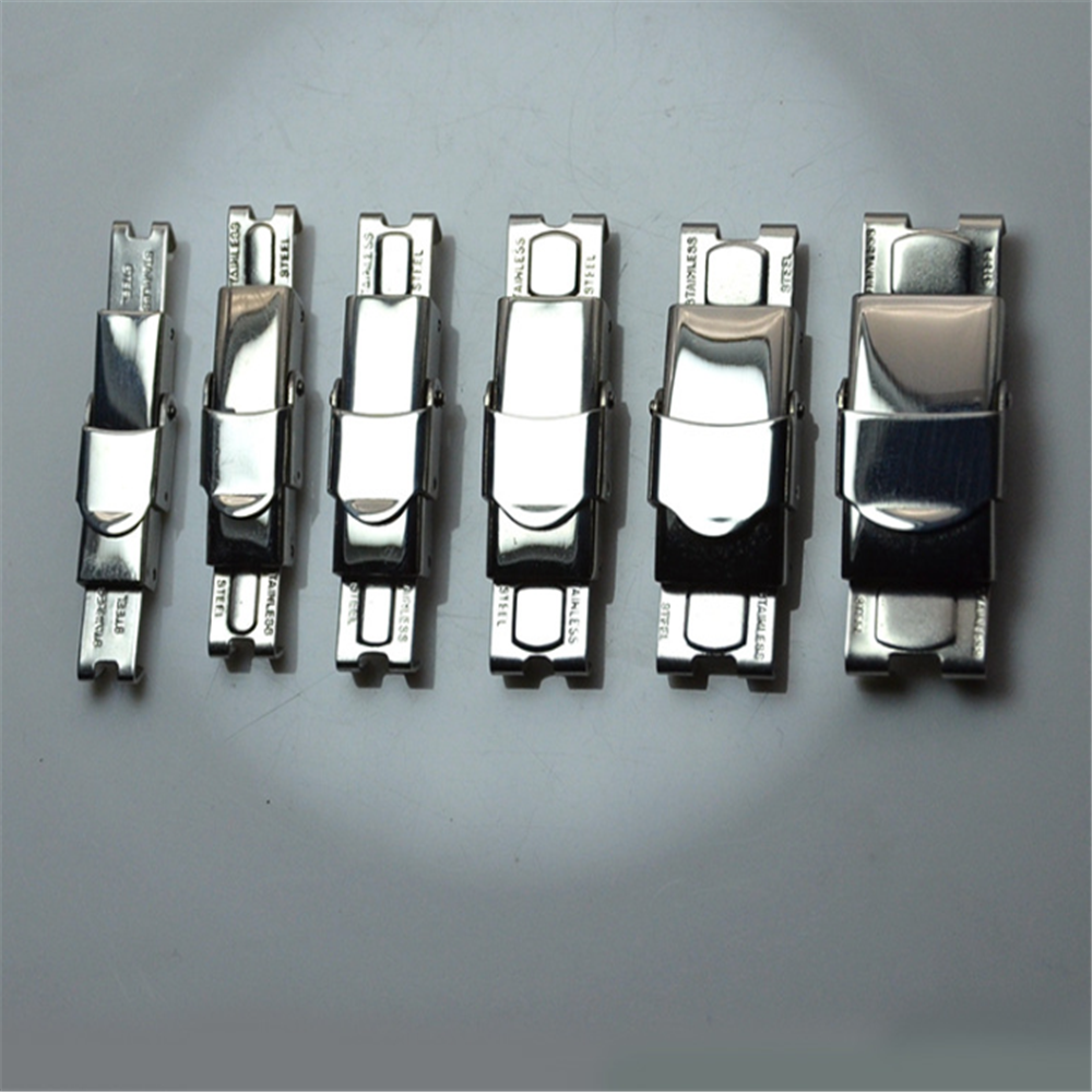 5 Pcs Stainless Steel Silver Lock Login Clasp For  Leather Bracelet Tool Jewelry Accessories New Arrival