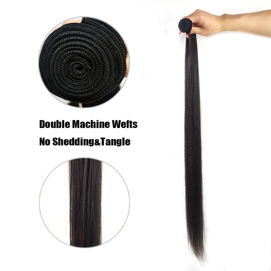 Re4U Hair Virgin Straight 8-40 Inch XP 10A Natural Color Raw Human Bundles One Donor 1/3 Bundles brazilian hair weave bundles