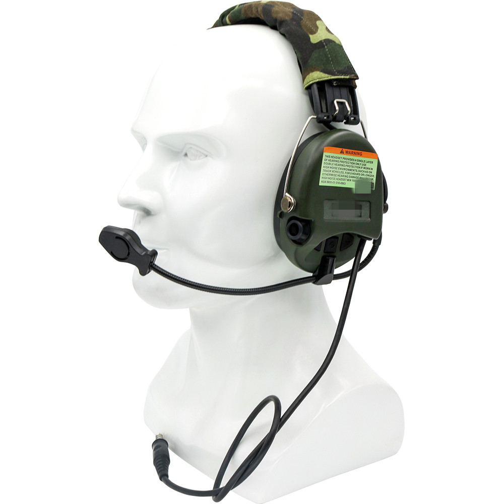 Купить с кэшбэком Tactical Electronic Earmuffs Pickup noise reduction Sordin Headphones Airsoft Military Tactical Softair Walkie Talkie Headse FG