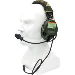 Image 5 - Тактические электронные наушники Sordin с шумоподавлением, наушники для страйкбола, военные тактические наушники Softair Walkie Talkie Headse FG