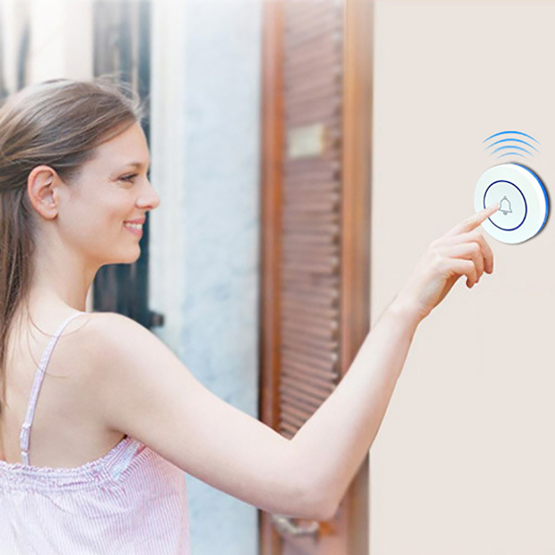 M6 Doorbell Outdoor Button Wireless Doorbell Smart Wifi Doorbell Home Alarm Smart Doorbell Wireless 433 Doorbell
