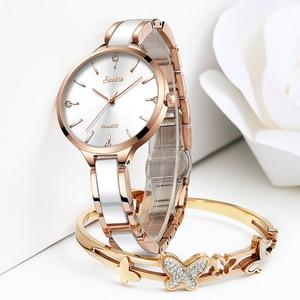 Image 2 - Sunkta relógio feminino relógio de cerâmica feminino simples diamante relógio de moda casual esporte relógio de pulso à prova dwaterproof água relogio feminino