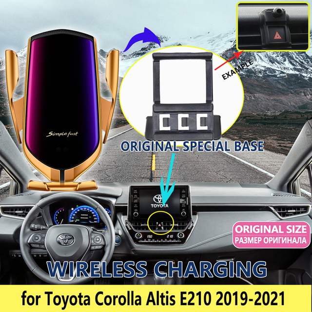 Car Mobile Phone Holder for Toyota Corolla E210 2019 2020 2021 Telephone Bracket Gravity Support Accessories for iPhone Huawei