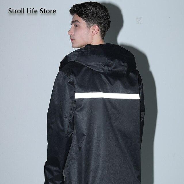 Black Motorcycle Raincoat Jacket Rain Coat Waterproof Suit for Fishing Double Layer Thickened Rainwear Capa De Chuva Gift Ideas 4