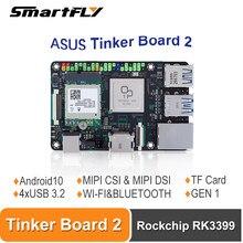 Asus tinker board 2 rockchip rk3399 um braço-baseado único computador de placa/suporte sbc android 10/ubuntu tinkerboard2/tinker2
