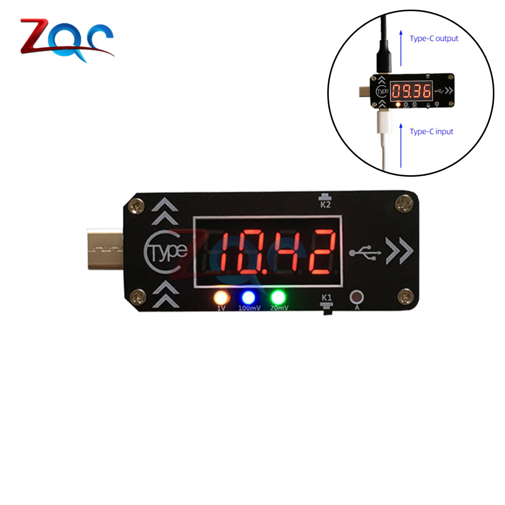 Led Digital Dc Voltage Current Meter Pd3.0 Fast Charge Trigger Decoy Test Instrument 3 Type-c Adapter With Case Dc Plug Usb Lead
