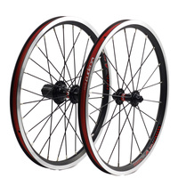 K Fun 18 Inch 355 WheelSet For Folding Bike 4 Bearing Hub Fit YA883 Bicycle Parts