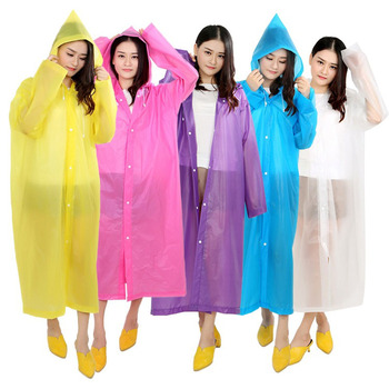 1Pcs Raincoat Waterproof for Women Men Thickened 12 Colors You Can Choose Portable Hooded Rain Coat Outdoor Hiking Poncho