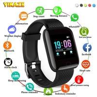 Reloj inteligente D13 para hombre y mujer, dispositivo deportivo resistente al agua con control del ritmo cardíaco y de la presión sanguínea, para Android IOS, 116Plus