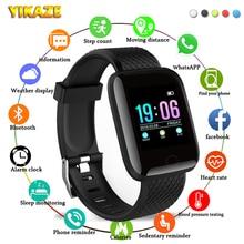 Смарт-часы D13 для мужчин и женщин, с пульсометром и тонометром, 116Plus, водонепроницаемые спортивные Смарт-часы, часы для Android и IOS