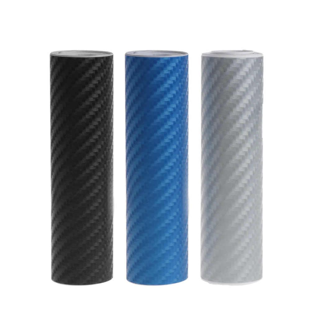 4D película de vinilo de fibra de carbono pegatina de coche impermeable DIY envoltura de la motocicleta con aire de liberación accesorios de coche