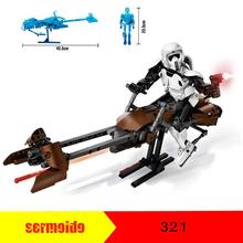 2017 NEW 321 452pcs Star Wars Imperial  Scout Troopers Speeder Bike Building Block 75532 Brick Toys