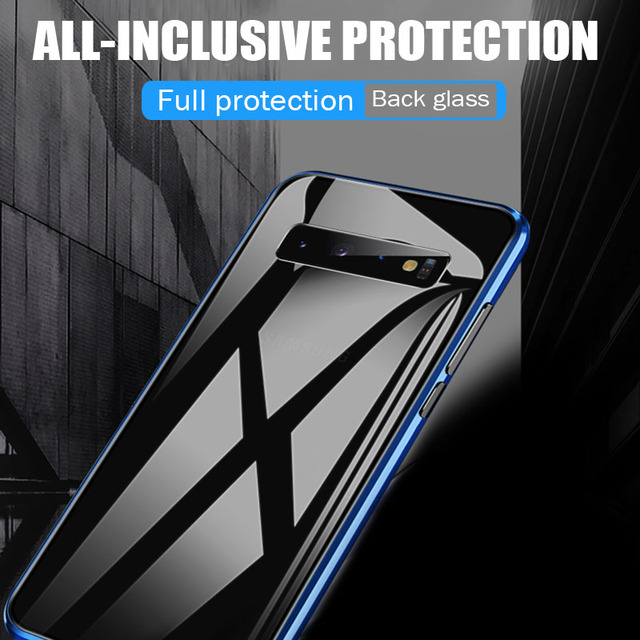 Magnetische Adsorptie Case Voor Samsung Galaxy A50 A70 A7 2018 S8 S9 S10 Plus S10e Shockproof Case Voor Note 9 8 10 Pro Back Cover 5