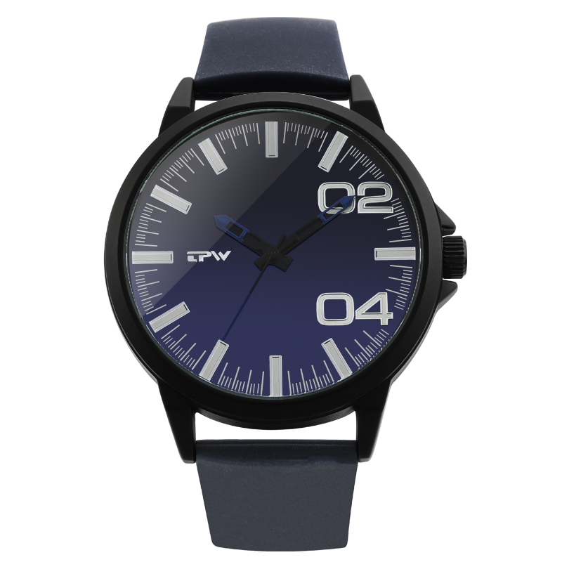 TPW Brand Silicone Strap Blue Men Watches Quartz Watch Clock Timepieces Creative Big Dial Watch Men Relogio Masculino image