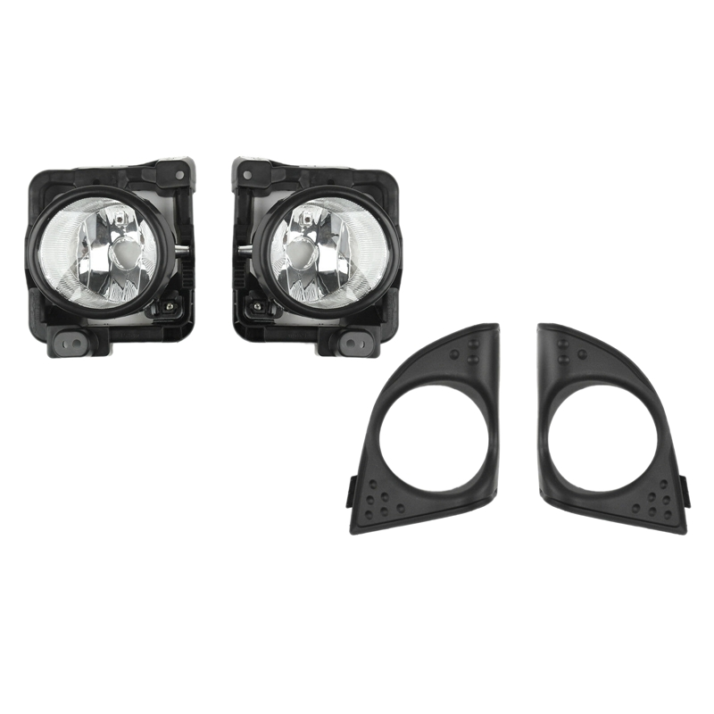 1Pair LH+RH Foglight Fog Light Lamp Cover Metal Without Bulb For Honda Acura TSX 2009-2010