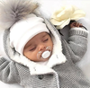 Cotton hats pom pom newborn children's hats