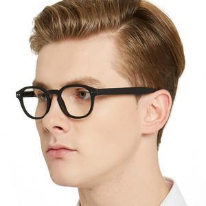Image 5 - MARE AZZURO 빈티지 라운드 안경 프레임 클리어 렌즈 컴퓨터 안경 남성/여성 광학 스펙터클 프레임 처방 안경