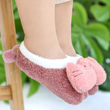 Baby Foot Socks Boy Girl Winter Indoor Shoes for Infant Toddler Kids Child Anti Slip First Walker Cartoon Animals Sock 0-3 Years cheap Foot-Socks-191114 Cotton + Acrylic 0 to 3 Years Boys Girls Autumn Winter Anti-Slip letters at bottom