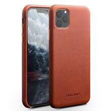 Için iPhone11 ofis hakiki deri sırt çantası iPhone X XR Retro dana derisi telefon kılıfı ince arka kapak iPhone 11 Pro Max