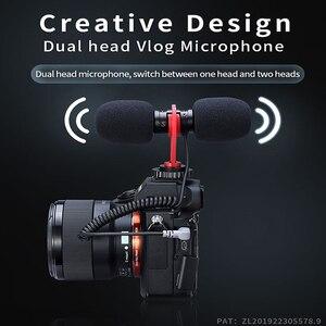 Image 2 - Sairen t mic duplo cabeça super cardióide estéreo registro microfone sem fio na câmera dslr shutgun microfone entrevista ao vivo streaming