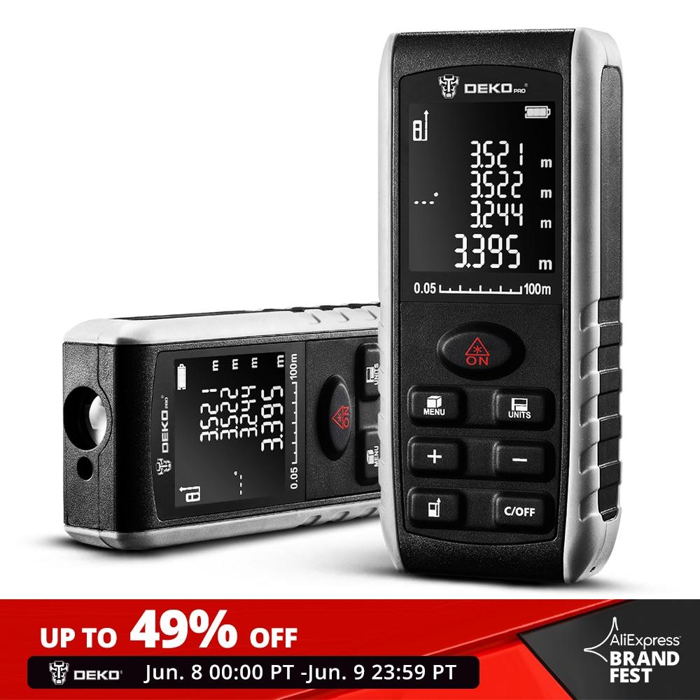 DEKO LRE521 Handheld Laser Distance Meter Mini Laser Rangefinder Laser Tape Range Finder Diastimeter Measure 40M 60M 80M 100M Laser Rangefinders    - AliExpress