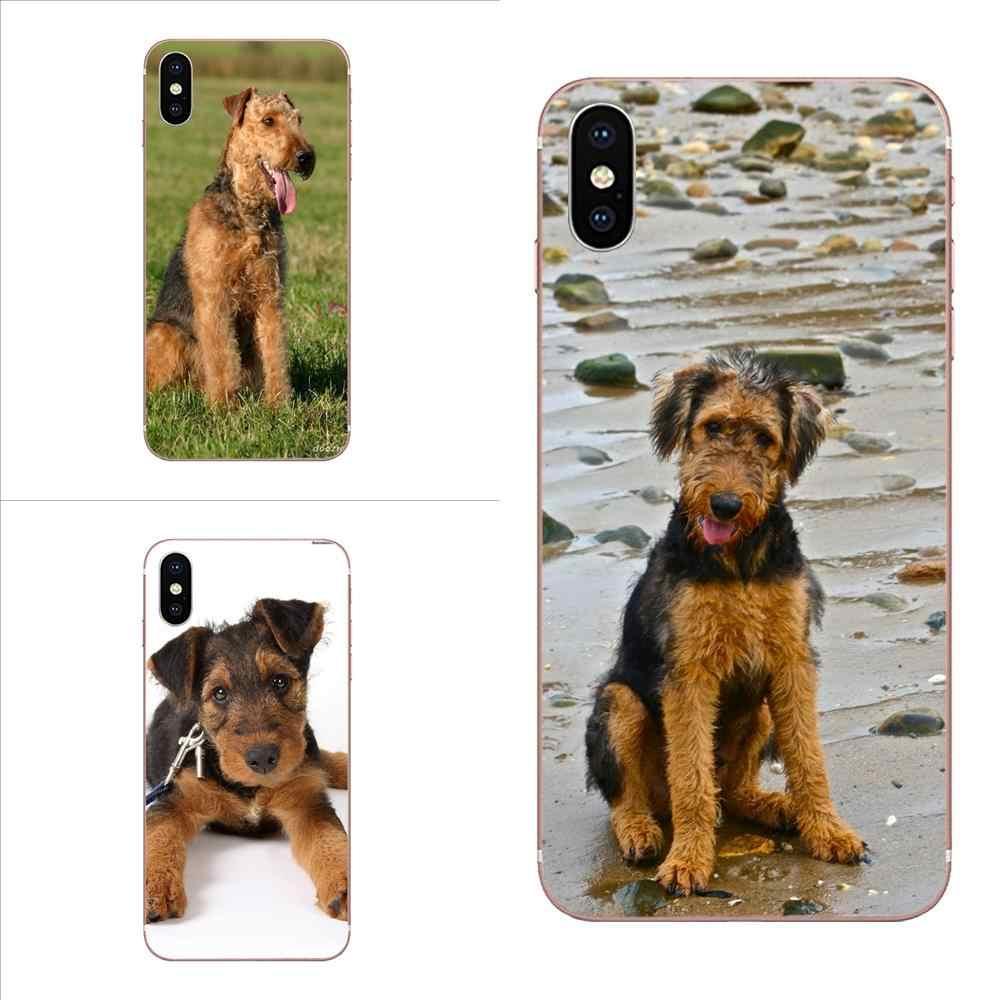 Belle peau de chien Airedale Terrier Ultra mince pour Xiao mi mi 3 mi 4 mi 4C mi 4i mi 5 mi 5S 5X6X8 SE Pro Lite A1 Max mi x 2 Note 3 4