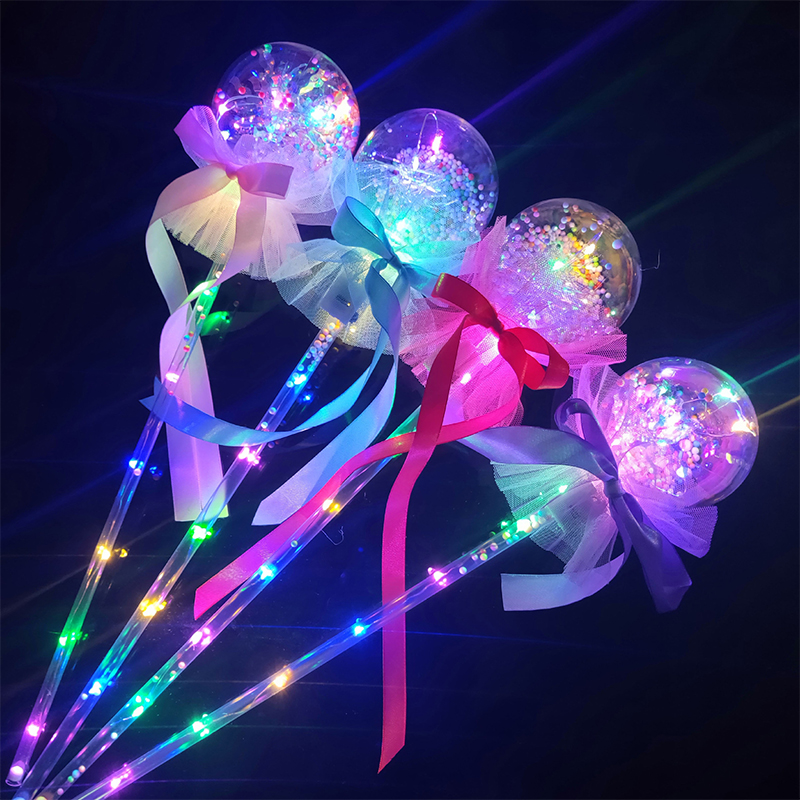 Landzo New Color Flash Wave Ball Electric Children's Toys Flash Stick Children's Light Toys Kids LED Ball Party Concert Supplies