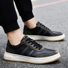 Design Genuine Leather Men Shoes Breathable Soft Quality Casual Shoes Flats Oudoor Rubber Sole Lace-Up Walking Shoes Men