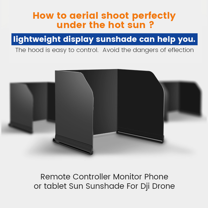 Mavic Air 2 Sun Hood Shade Tablet Phone Sunshade Cover for DJI Phantom Series General Mavic Mini   Pro Air  2  Spark Accessories