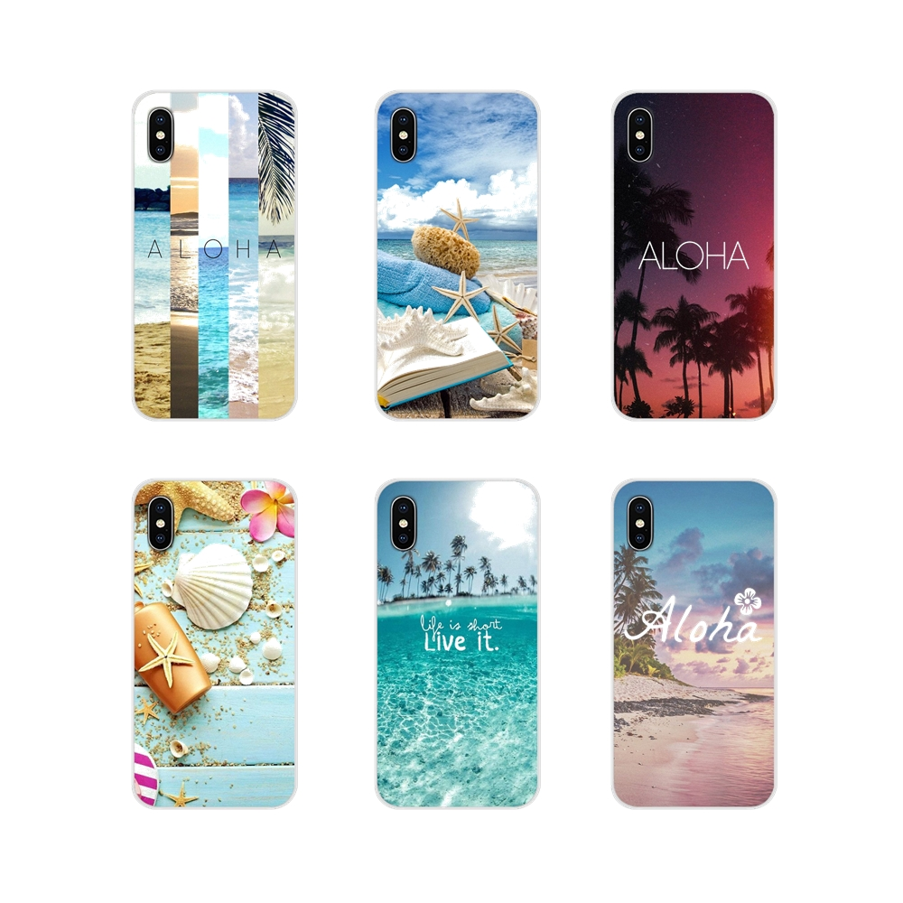 <font><b>Silicone</b></font> <font><b>Cases</b></font> For <font><b>Huawei</b></font> Nova 2 3 2i 3i <font><b>Y6</b></font> Y7 Y9 Prime Pro GR3 GR5 2017 <font><b>2018</b></font> 2019 Y5II Y6II <font><b>Summer</b></font> Beach Hawaii Aloha Sea Ocean image