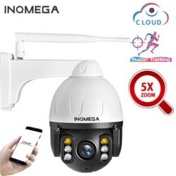 INQMEGA Cloud 1080P Outdoor PTZ IP Camera WIFI Speed Dome Auto Tracking Camera 5X optical zoom 2MP Onvif IR CCTV Security Camera