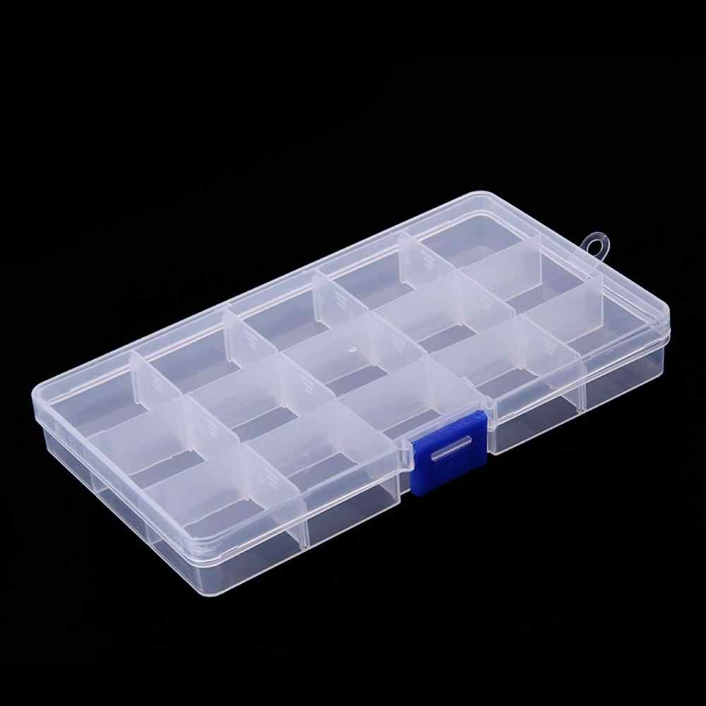 15 Grids Removable Plastic Storage Box Jewelry/Earring/Tools Container Case PP material Jewelry Earring Organizer Holder Case