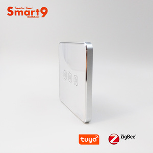 Image 1 - Interruptor de batería Smart9 ZigBee, que funciona con el concentrador TuYa ZigBee, Interruptor táctil Sticker Smart Life App Control, alimentado por TuYa