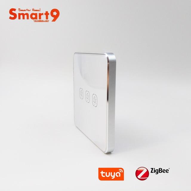 Interruptor de batería Smart9 ZigBee, que funciona con el concentrador TuYa ZigBee, Interruptor táctil Sticker Smart Life App Control, alimentado por TuYa
