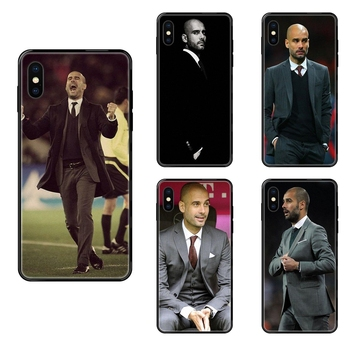 Official For iPhone 11 12 Pro 5 5S SE 5C 6 6S 7 8 X 10 XR XS Plus Max World Famous Pep Guardiola Black Soft TPU Case Accessories image