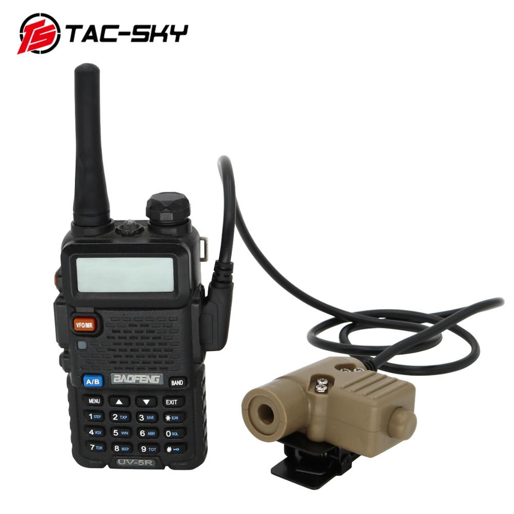 Купить с кэшбэком TAC -SKY PTT U94 new plug tactical PTT military headset adapter walkie talkie PTT hunting sport shooting tactical headset u94ptt