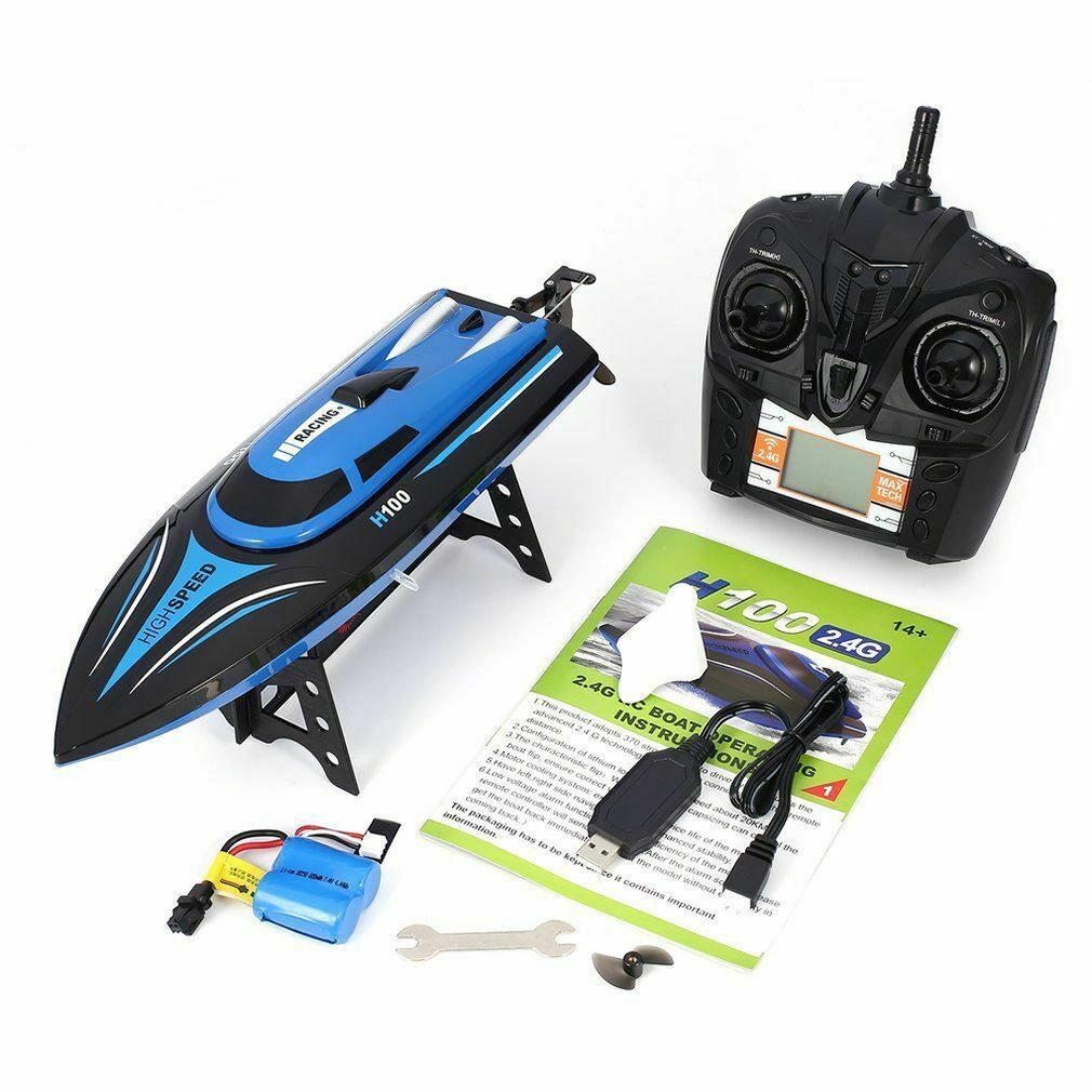 Remote Control Boat Speed Racing High Speed Water Cooled RC Speedboat Toy Ship Model Educational Children's Toys