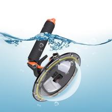 цена на RuigPro Dome Port Waterproof Case Housing for GoPro Hero 5 Black Hero 6 Hero 7 Trigger Dome Cover Lens Shooting Accessories