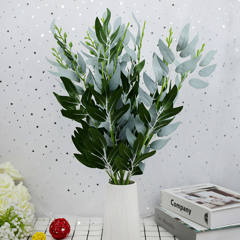 Шелковые цветы зеленые листья растений искусственная ива букет цветов
