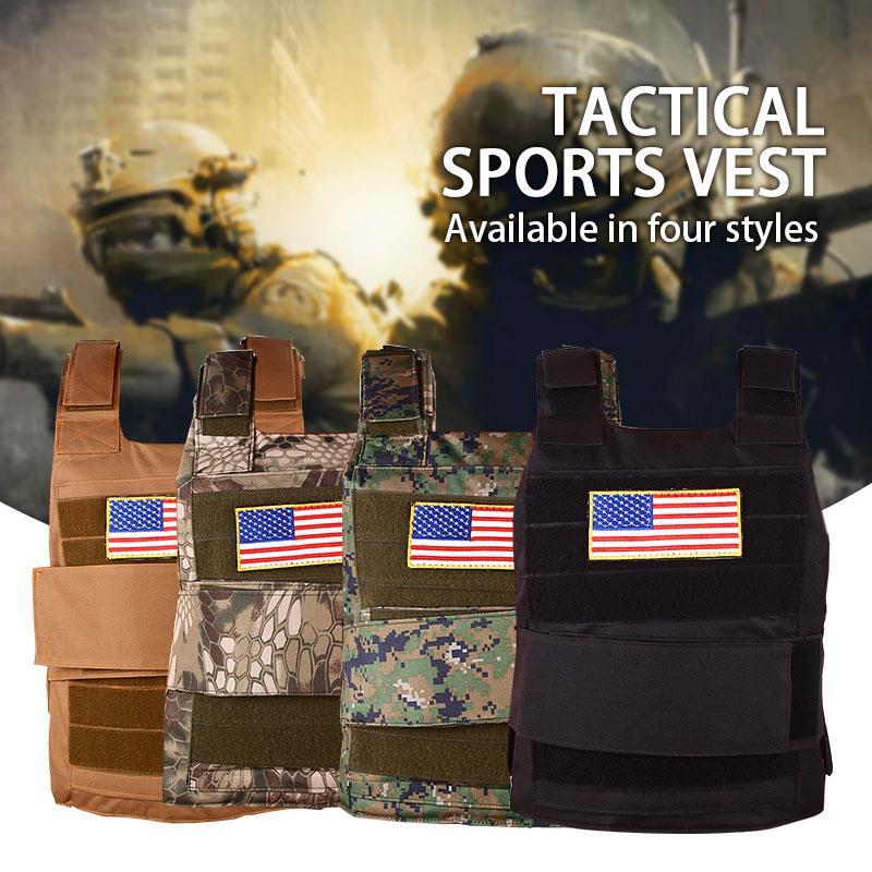 Tactical Vest Camouflage Vest Wilderness Adventure Motion Survival Outdoors 4color Nylon Sports Vest Equipment Military