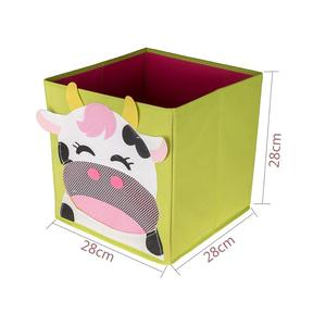 Image 5 - New 3D Cartoon Non Woven kid Toys Storage bins Animal Embroidery Foldable Clothes Storage Box for Underwear organizer Rangement