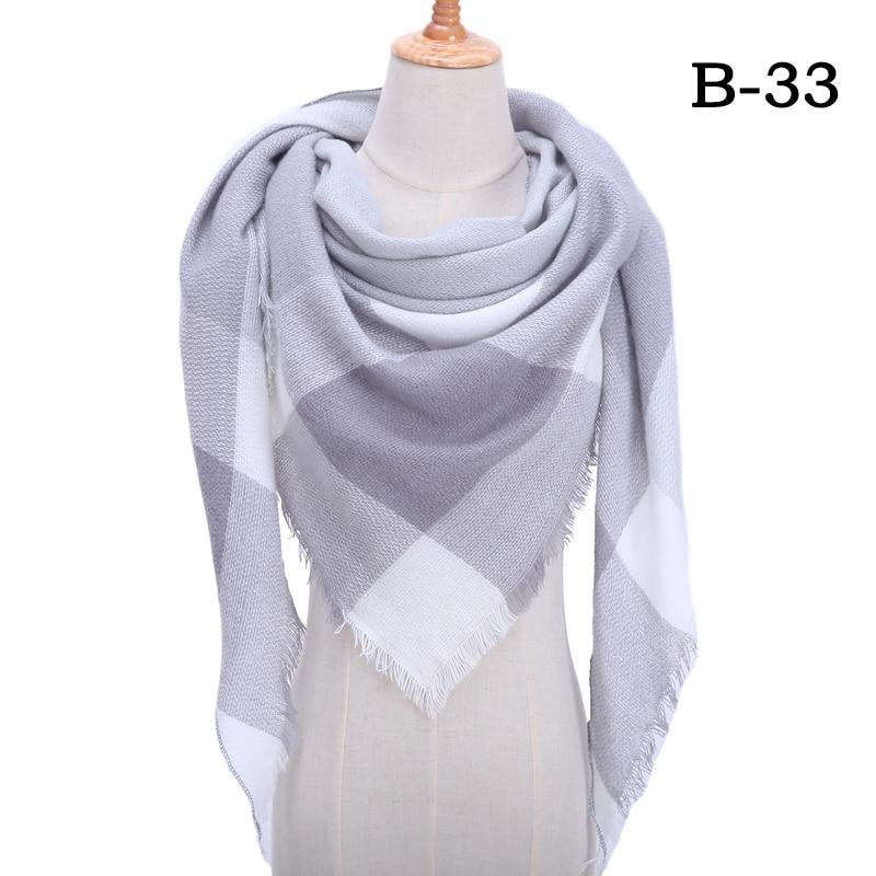 Женский зимний шарф в ретро стиле, кашемировые вязаные пашмины шали, женские мягкие треугольные шарфы, бандана, теплое одеяло, новинка - Цвет: bb33