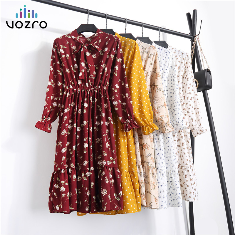 VOZRO Chiffon Shivering Sexy Winter Maxi Party Long Autumn Bodycon Dress Elegant Women Vestido Dresses Clothes Befree Vintage