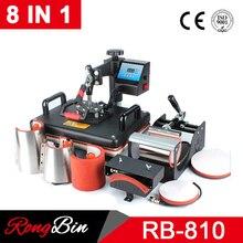 Goedkope 8 In 1 30*38Cm Combo Warmte Pers Printer Sublimatie Machine Warmte Persmachine Voor T shirts/cap/Mok/Telefoon Gevallen/Fles