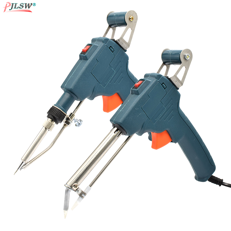 110V/220V 60W US/EU Hand-held Internal Outside Heating Soldering Iron Automatically Send Tin Gun Soldering Welding Repair Tools
