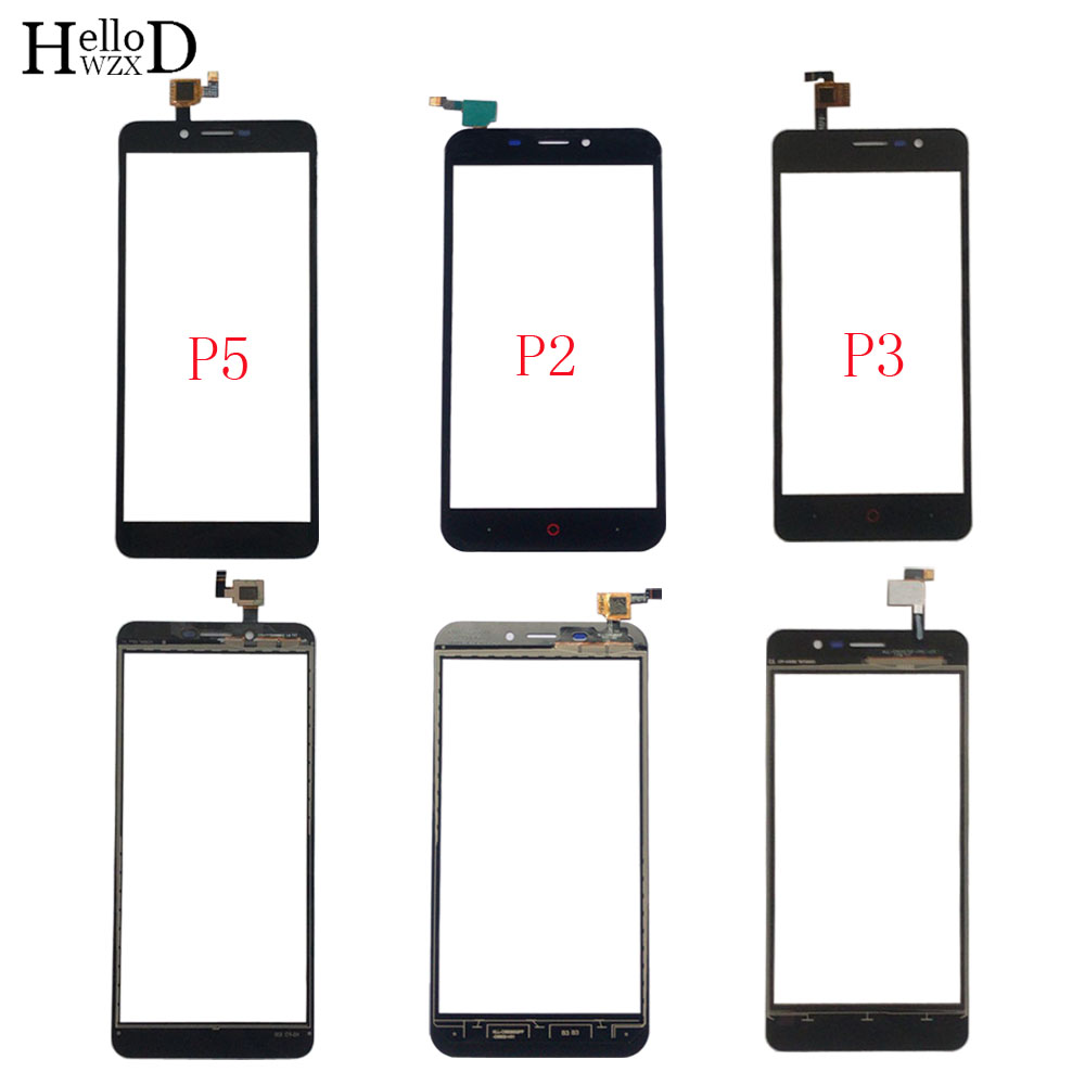 Moble Touch Screen Panel For Doopro P2 P3 P5 P5 Pro Touch Screen Digitizer Panel Front Glass Sensor TouchScreen Parts 3M Glue