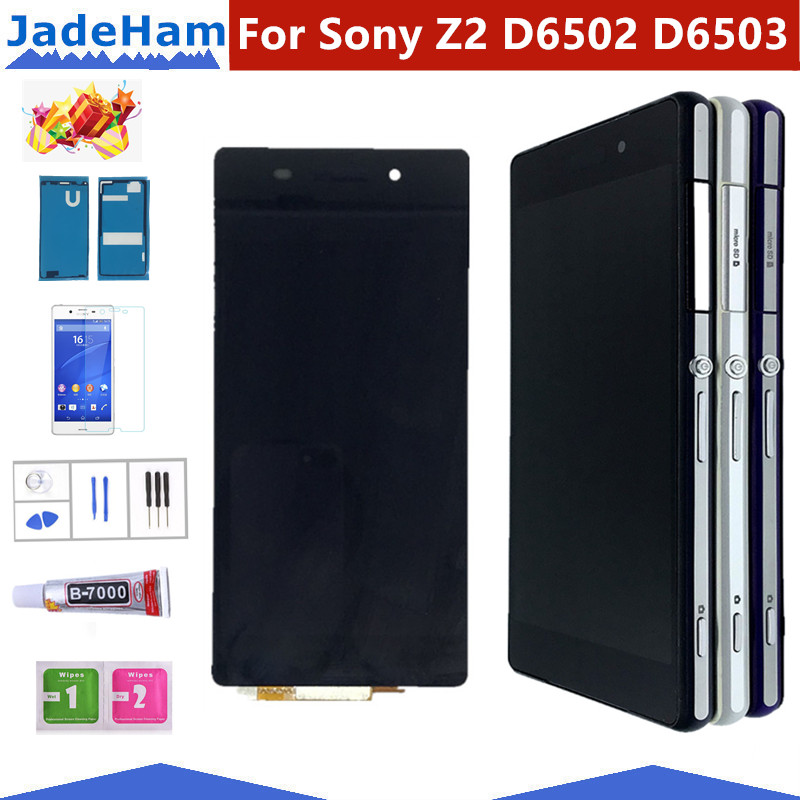 Original 5.2'' D6502 D6503 D6543 LCD For SONY Xperia Z2 Display Touch Screen Digitizer Assembly For SONY Xperia Z2 LCD